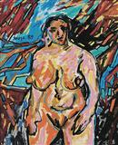 Standing Nude - F N Souza - Auction 2004 (May)