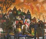 Bright Evening Sky - Manu  Parekh - Auction May 2005