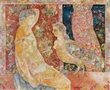 Conversation - Sakti  Burman - Auction May 2005