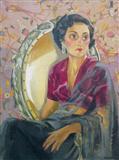 The Grey Sari - Jehangir  Sabavala - Auction May 2005