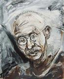 Gandhi - Manu  Parekh - Auction May 2005