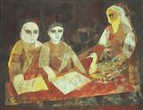 The Reading of the Hamsa Jataka - Badri  Narayan - Auction Dec 06