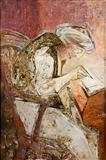 The Scribe (Imaginary Portrait of My Grandfather - Lala Kidarnath Khanna) - Krishen  Khanna - Auction Dec 06