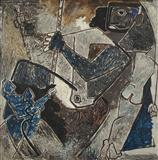 The Pull - M F Husain - Auction Dec 06