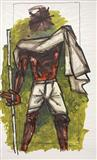Gandhi - M F Husain - Auction Dec 06