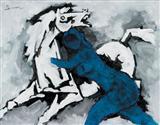 Untitled - M F Husain - Auction May 2006