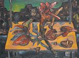 Benaras Landscape - Manu  Parekh - Auction May 2006