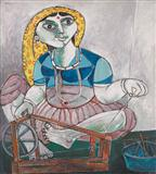 Gujrati Woman Spinning - Paritosh  Sen - Auction May 2006