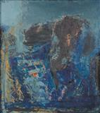 Paysage Blue - S H Raza - Auction May 2006