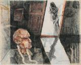 Composition with Head and Figure - Shyamal Dutta Ray - Auction May 2006