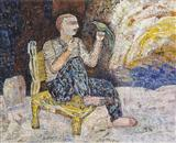 Man and Bird - Jayashree  Chakravarty - Spring Auction 2006