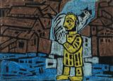 Untitled (Man with a Fowl) - Badri  Narayan - Summer Auction 2007