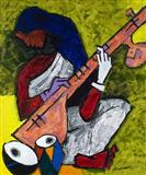 Sitar Player - M F Husain - Summer Auction 2007