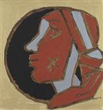 South Indian Woman - M F Husain - Summer Auction 2007