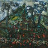 Landscape - F N Souza - Winter Auction 2007