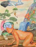 Mind Scroll - Detail 1 - Gopikrishna   - Spring Auction 2008