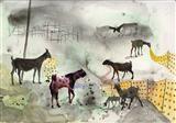 Landscape Goat - Jagannath  Panda - Spring Auction 2008