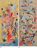 a) The Red Cloud b) Hieroglyphs 2002 - Nalini  Malani - Summer Auction 2008