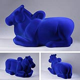 Nandi in Blue - Arunkumar H G - Winter Auction 2008