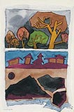 Landscape VI - M F Husain - Winter Auction 2008