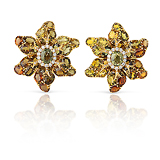 A PAIR OF TOURMALINE AND DIAMOND EAR CLIPS -    - Fine Jewels and Objets d'Art