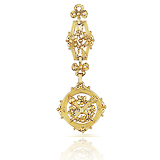 AN ART-NOUVEAU GOLD POCKET FOB -    - Fine Jewels and Objets d'Art