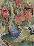 Cannas in Blue Pot - Jehangir  Sabavala - Summer Auction 2009