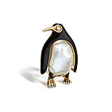 A PEARL AND DIAMOND `PENGUIN` BROOCH, BY BOUCHERON -    - Spring Auction of Fine Jewels