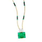 AN EMERALD AND DIAMOND PENDANT -    - Auction of Fine Jewels & Watches