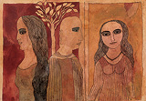 The Monk and the Sisters - Badri  Narayan - Spring Auction 2010