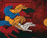 8 Horses - M F Husain - Summer Auction 2010