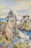 The Faraglioni, Capri - Jehangir  Sabavala - Summer Auction 2010