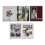 A Set of Five Rare M.F Husain Exhibition Catalogues -    - Words and Lines: 24-Hour Auction