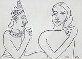 King and his Queen - Jogen  Chowdhury - Words and Lines: 24-Hour Auction