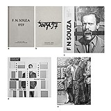 A Set of Five F.N. Souza Exhibition Catalogues -    - Words and Lines: 24-Hour Auction