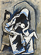M F Husain - Autumn Auction 2011