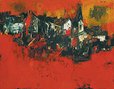 The Village - S H Raza - Autumn Auction 2011