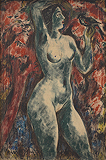 Nude with Bird - K H Ara - Spring Auction 2011