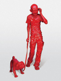 India Shining VI (Gandhi Walking Dog) - Debanjan  Roy - Spring Auction 2011