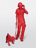 India Shining VI (Gandhi Walking Dog) - Debanjan  Roy - Spring Auction 2011