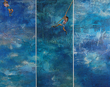Rope Swing - Blue - Vasundhara  Tewari - 24-Hour Contemporary Auction
