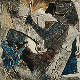 The Pull - M F Husain - Winter Online Auction