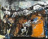 Village - S H Raza - Winter Online Auction