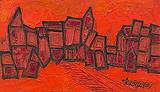 Red Landscape - F N Souza - Winter Online Auction