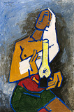 Untitled - M F Husain - 24-Hour Online Absolute Auction