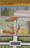 A Raja Being Dressed by Attendants -    - Indian Antiquities & Miniature Paintings