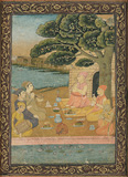 A Group of Ascetics -    - Indian Antiquities & Miniature Paintings