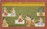 A Folio from the Bhakti Ratnavali Series -    - Indian Antiquities & Miniature Paintings