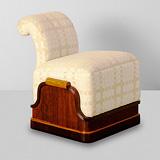 A VANITY STOOL -    - 24-Hour Online Auction: Art Deco