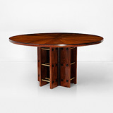 A CIRCULAR SINGLE PEDESTAL DINING TABLE -    - 24-Hour Online Auction: Art Deco
